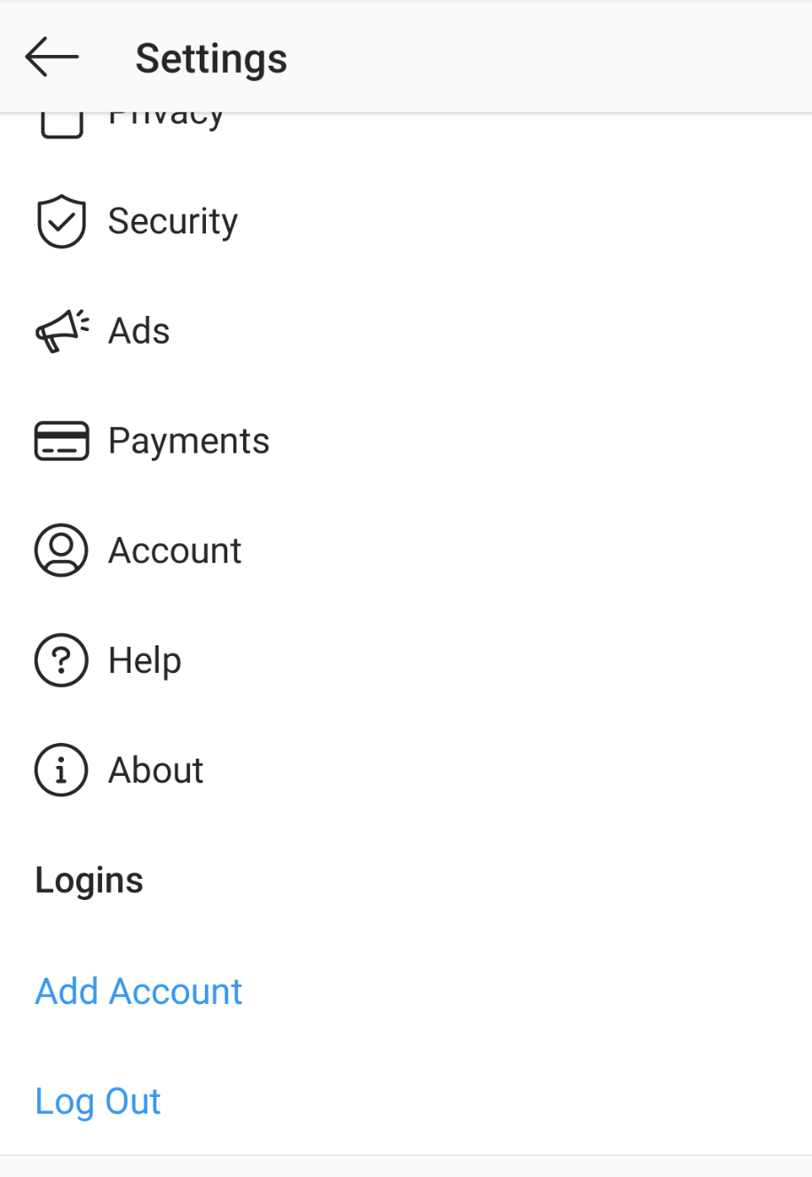 Go to the setting to Remove Instagram Account