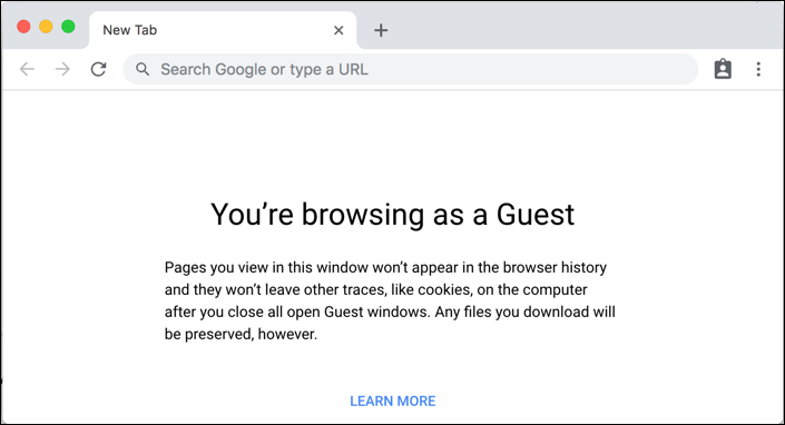 Guest mode in Chromebook