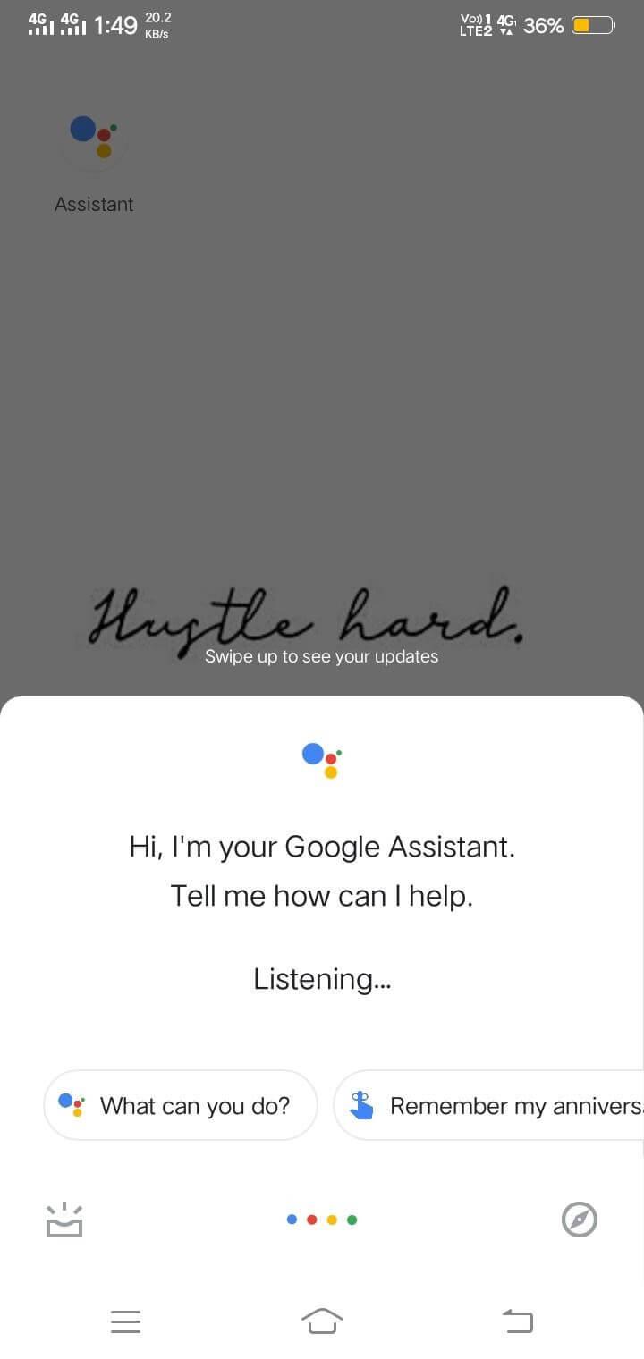 Launch Google Assistant