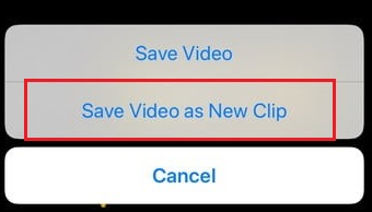 Save Videos As New Clip