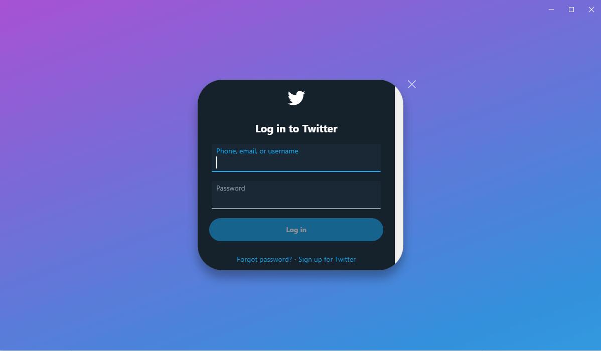 Tweeten Login