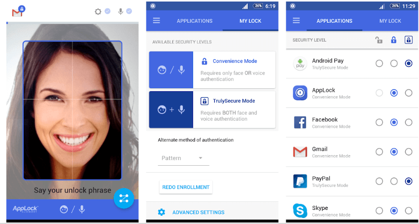 AppLock Face or Voice Recognition