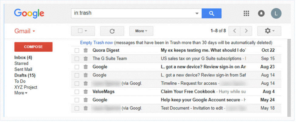 Delete All mails From Trash in Gmail