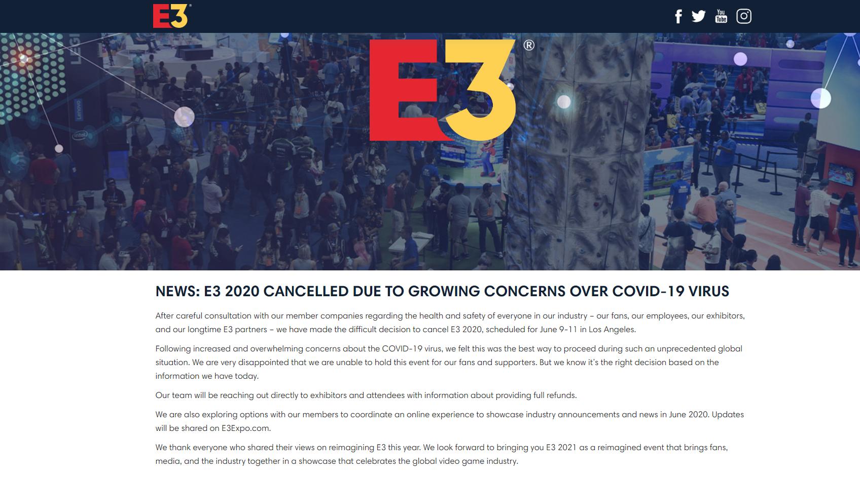 E3 Cancellation