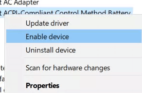 Enable device