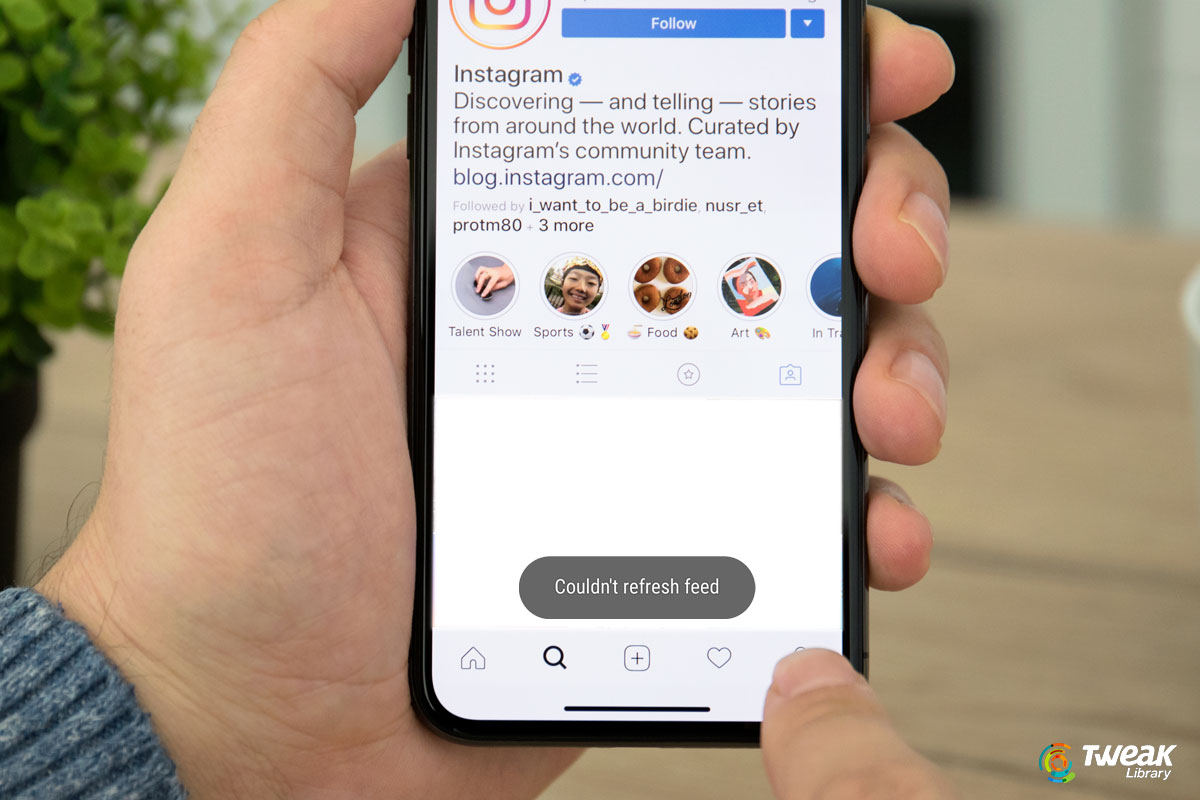 HowTo Fix Couldn't Refresh Feed Instagram Error