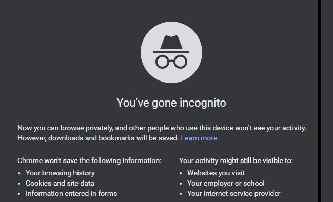Incognito Mode of Chrome