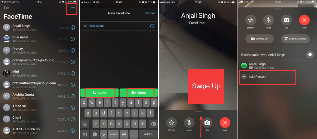 Make A Group FaceTime Call Using FaceTime