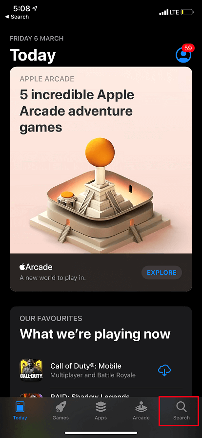 Open App Store on iPhone