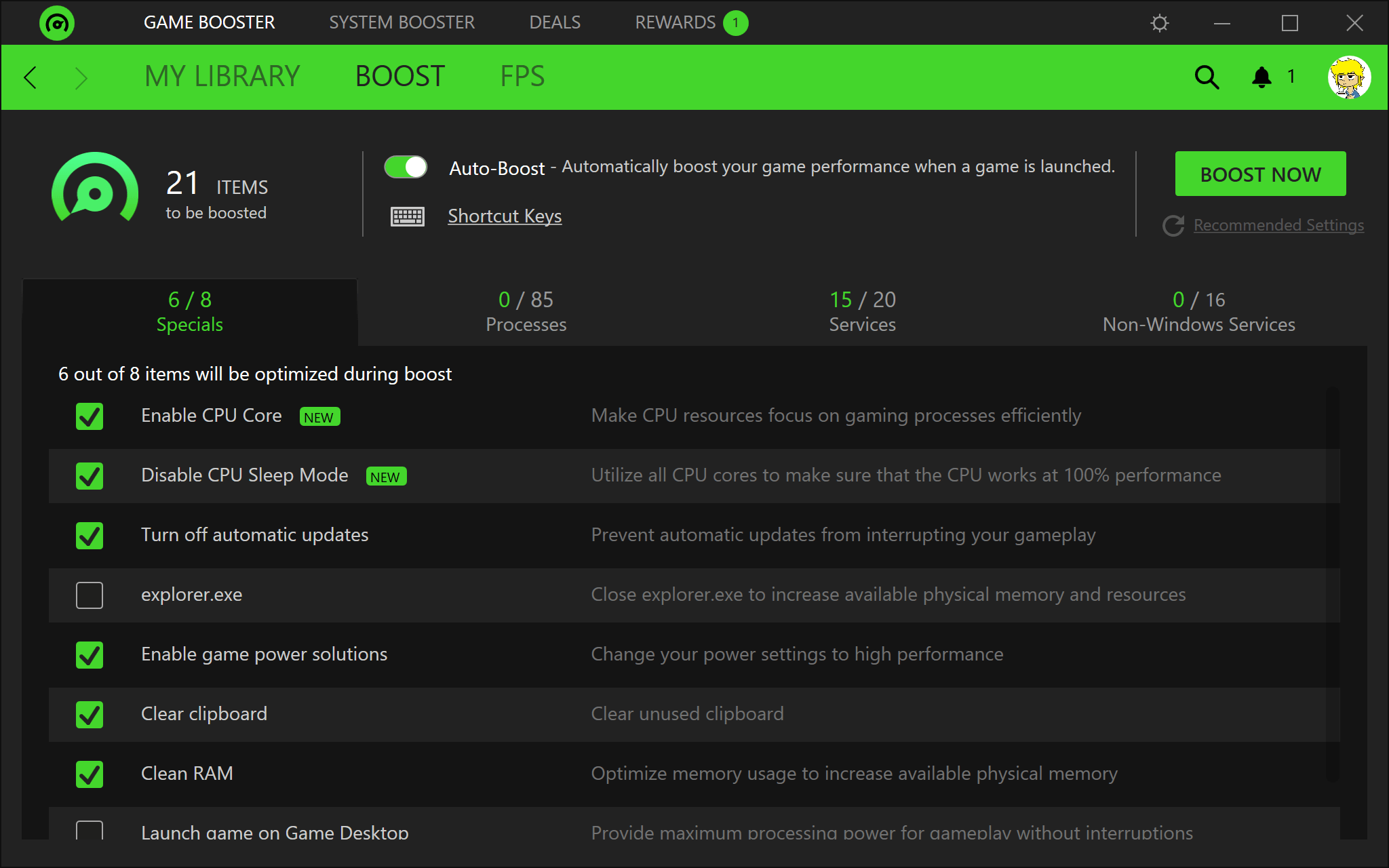 Razer Cortex - Great Game Booster Utility