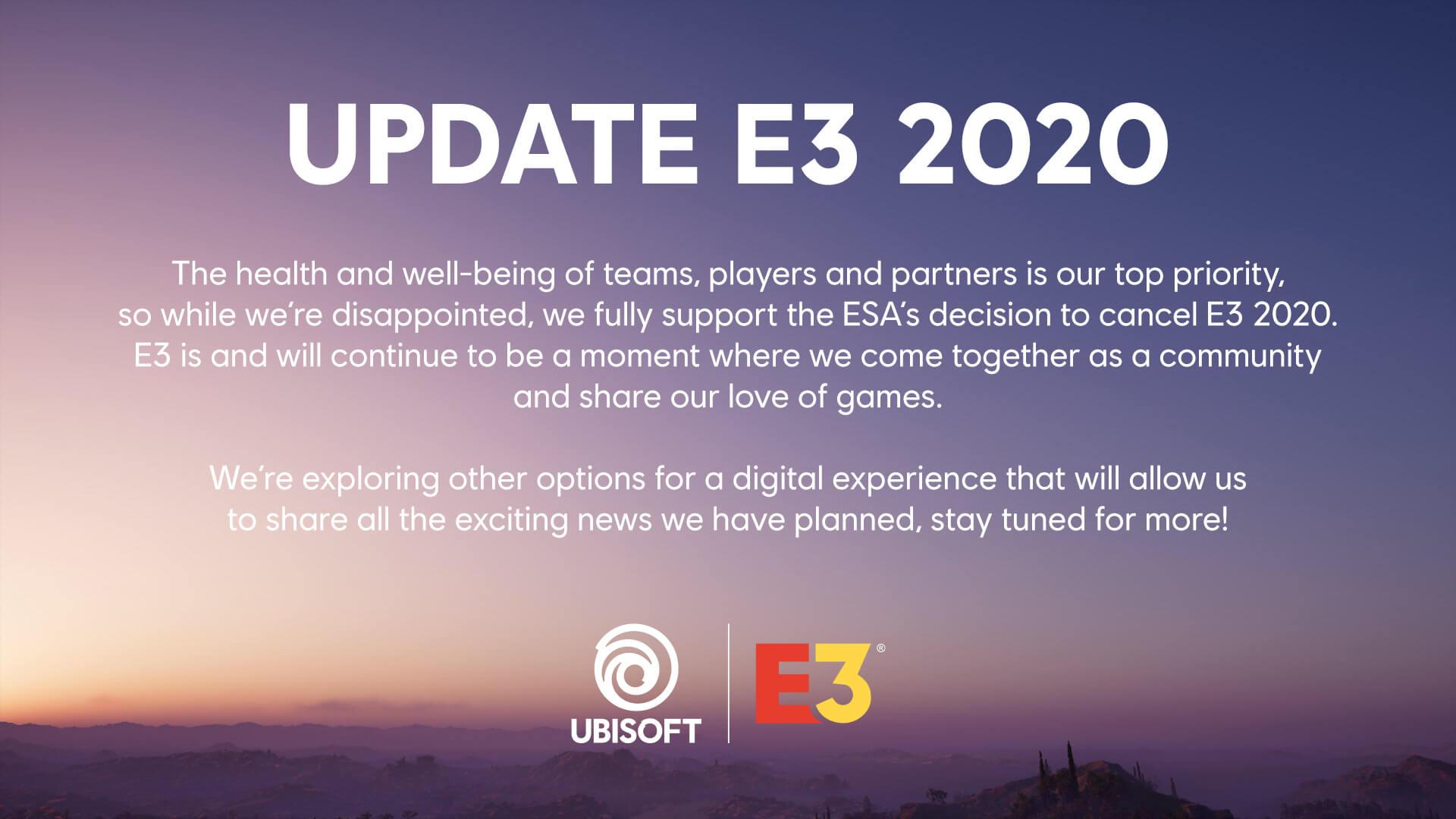 Ubisoft Update E3 2020