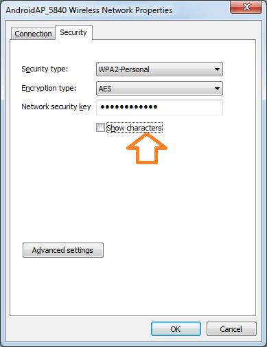 Wireless Network Properties window