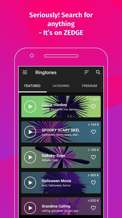 Zedge - Ringtone Maker Apps for Android