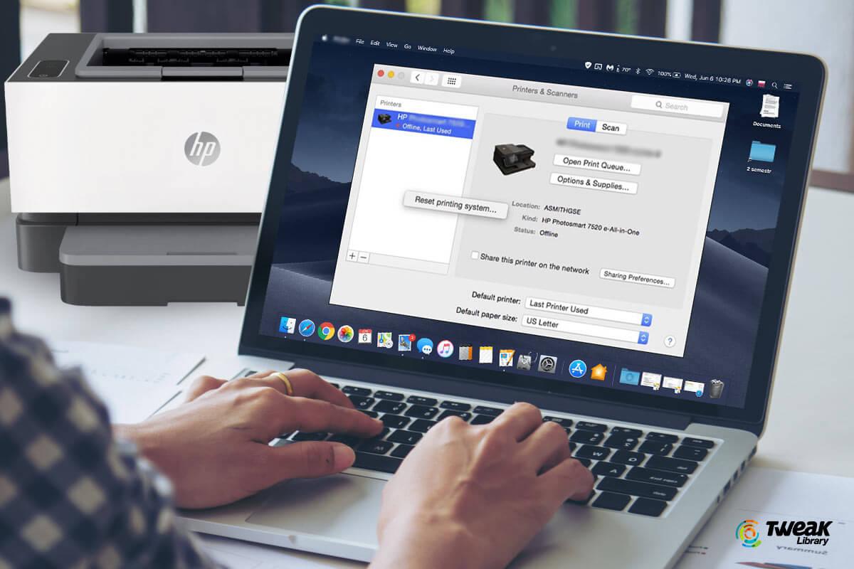 Fix Offline Printer Error on Mac