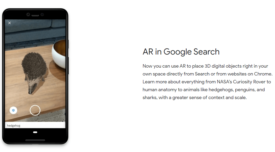 Google Search AR Feature