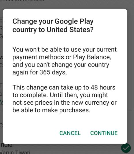 Change google play