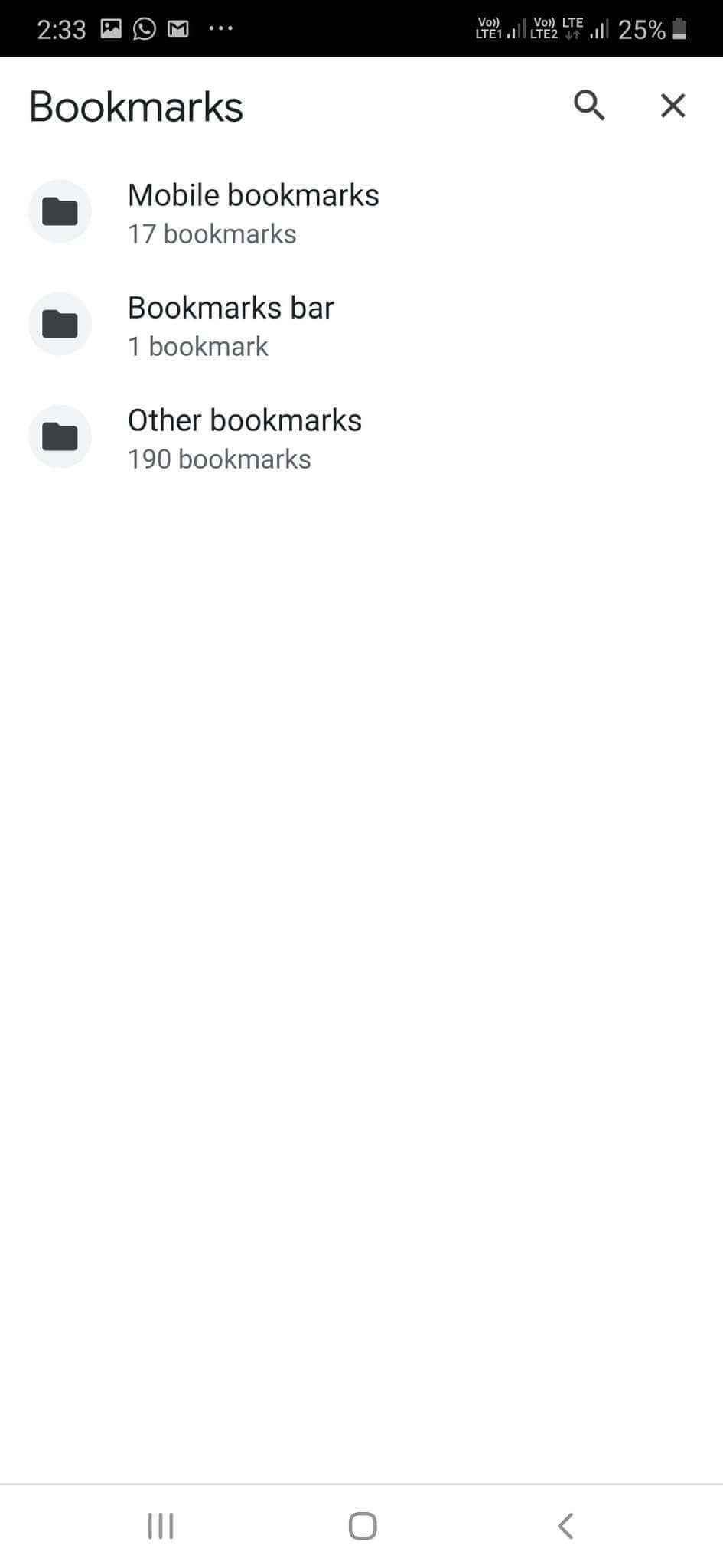 Chrome Bookmark