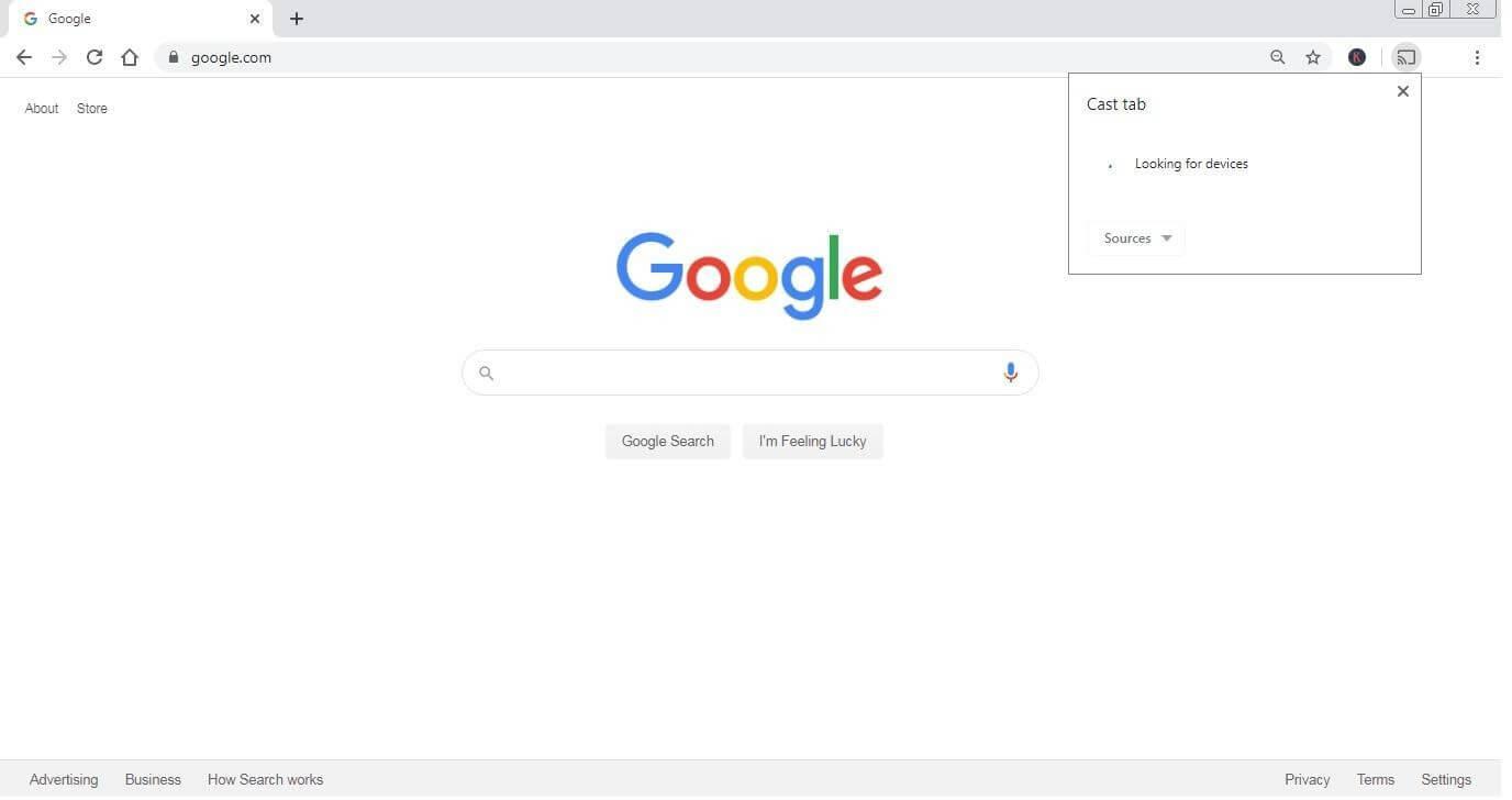 Google cast chrome enabled