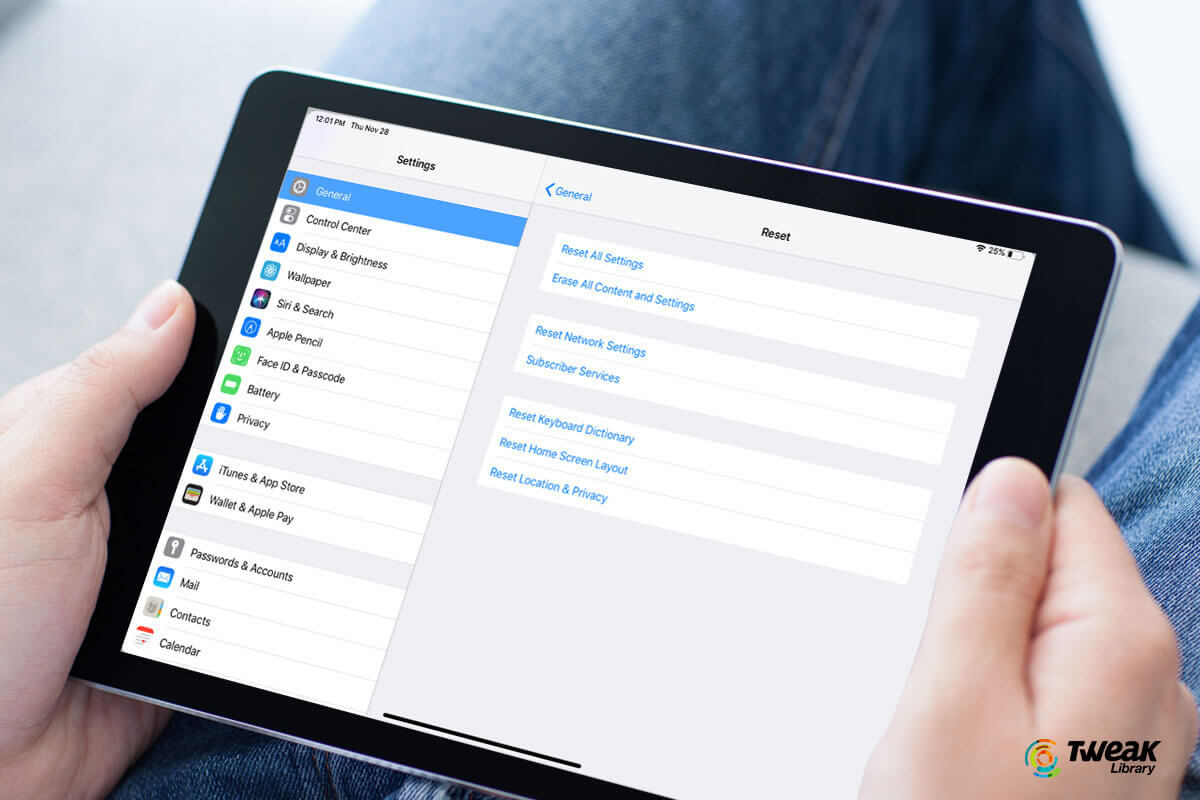How To Factory reset an iPad and android