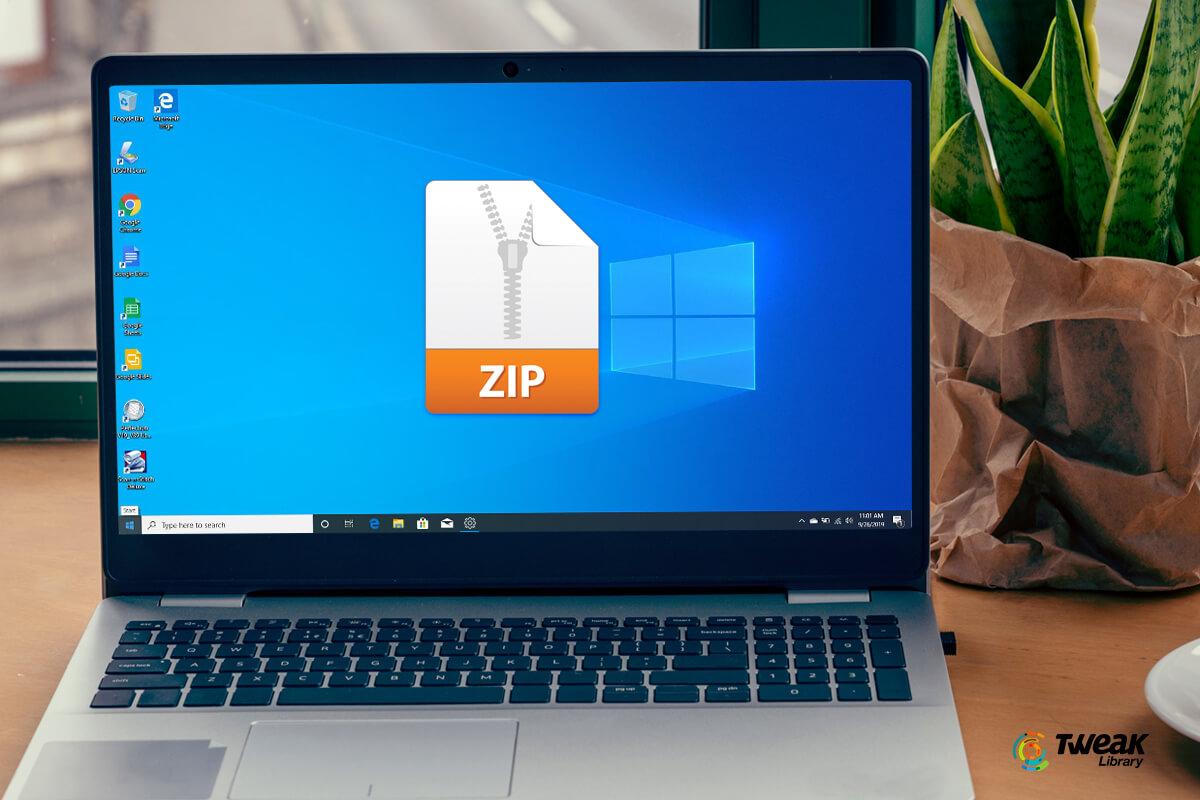 Zip Unzip Files on Windows 10