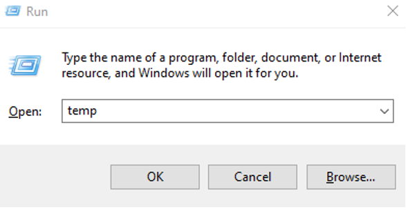 Run Command Temp File