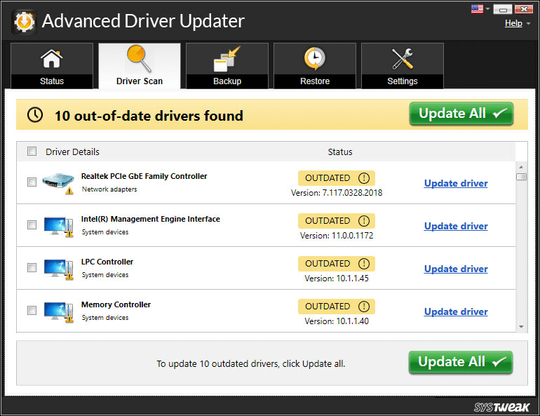 Update Drivers With Advanced Driver Updater