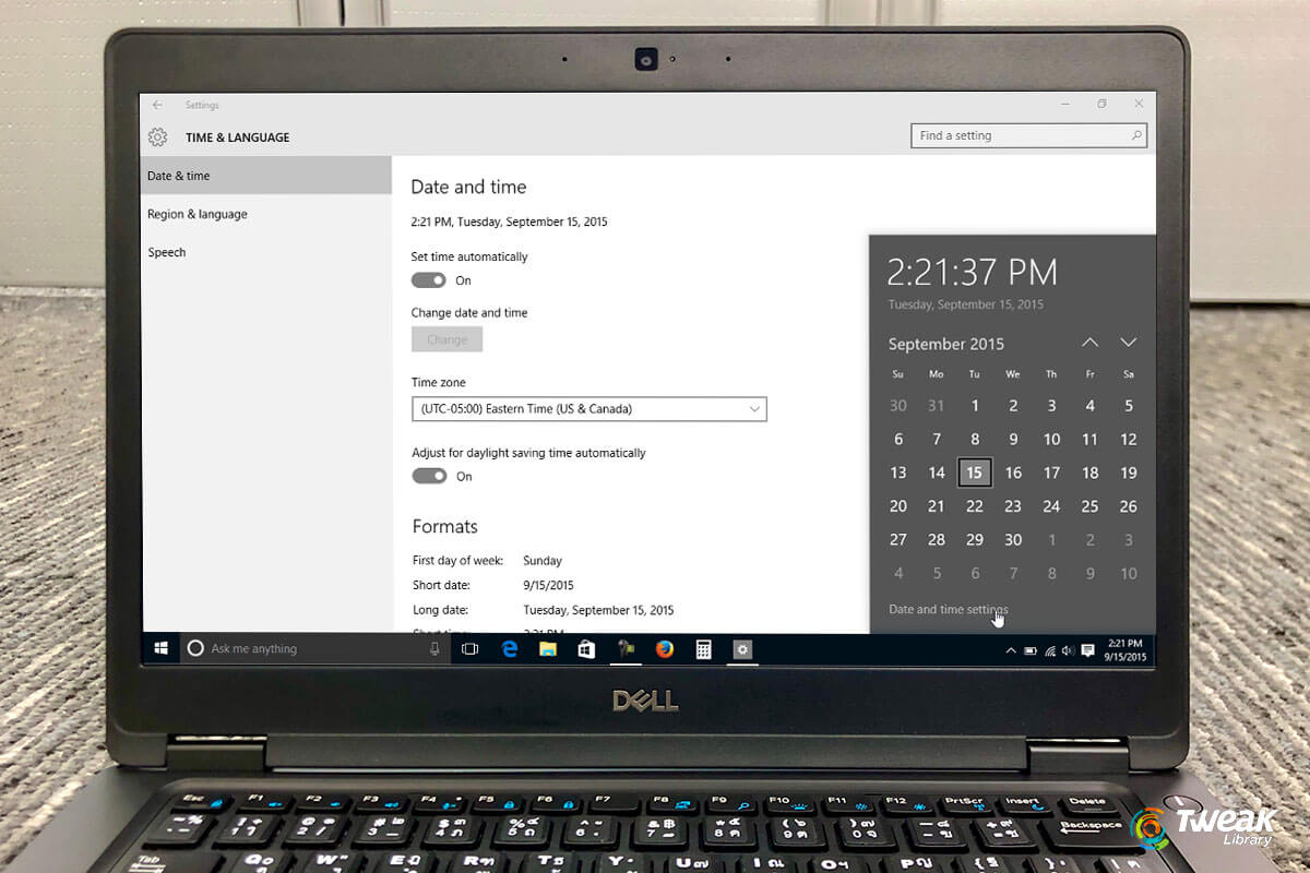 Change Date and Time in Windows 10