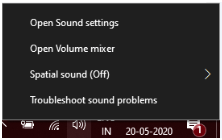 open sound setting