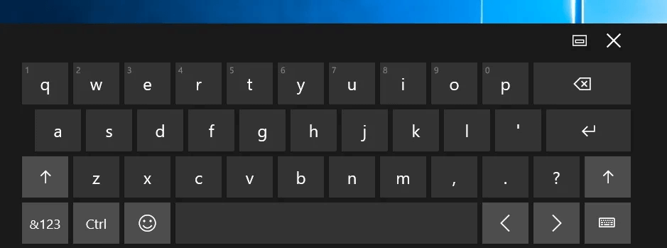 option of emoji near CTRL